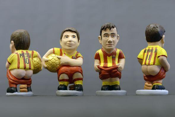 Las dos estrellas del Barcelona, Lionel Messi y Neymar.
