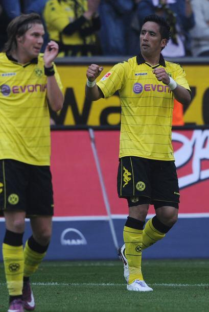 Barios juega en el campeón alemán Borussia Dortmund y su cuota de goles...