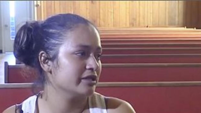 La inmigrante salvadoreña Claudia Jurado, refugiada en la Iglesia de Nue...