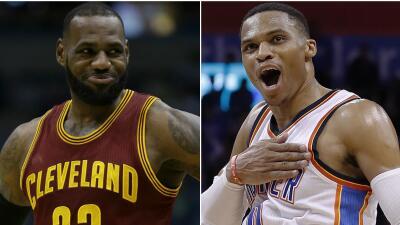 LeBron James y Russell Westbrook nombrados Jugadores del Mes.