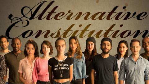 Parte del grupo de figuras reconocidas que participa en el video sobre l...