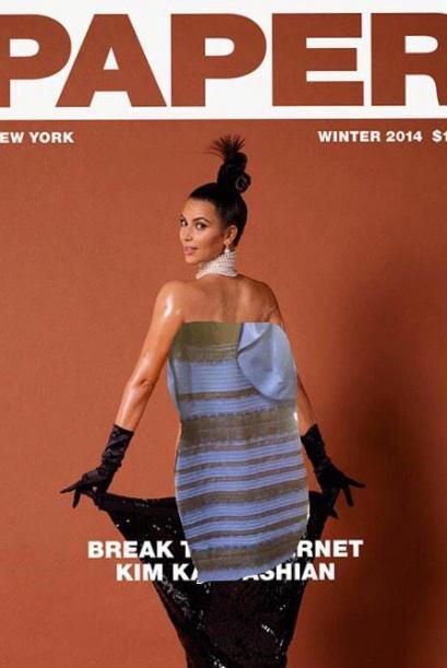 Kim creyó romper el Internet... más bien lo consiguió este vestidito.