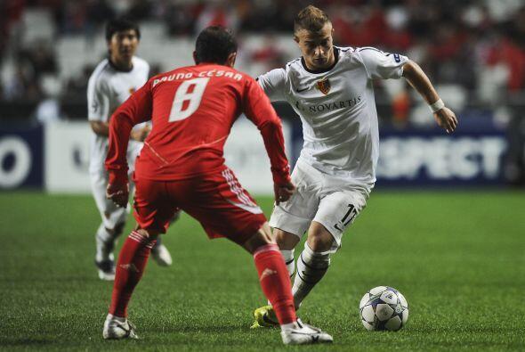 Benfica empató ante el Basilea de Suiza.