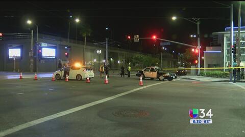 Motociclista muerte tras chocar con un tren del metro de la línea Expo