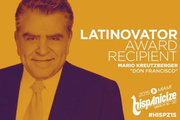 Don Francisco recibió un gran honor durante el evento Hispanicize.