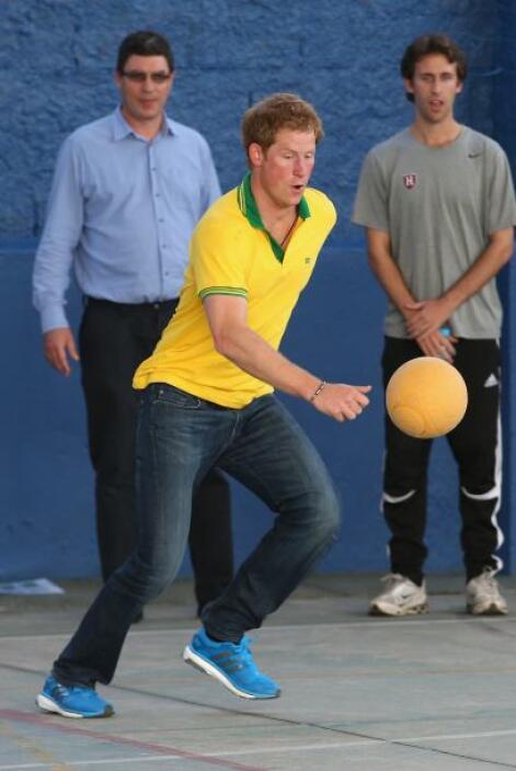 El príncipe Harry en Brasil