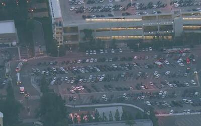 Varios vehículos se incendiaron en el estacionamiento de Disneyland