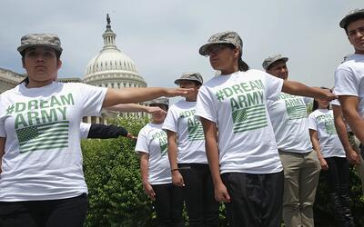Protesta de dreamers frente al Capitolio (archivo)