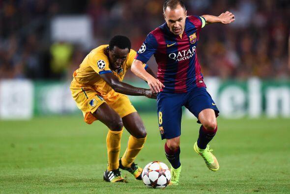 Andrés Iniesta tuvo actuaciones destacadas con el Barcelona, sus...