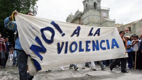Una de las múltiples manifestaciones que se realizan en Mé...