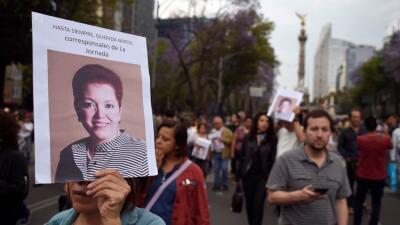 Marcha en Ciudad de México el 25 de marzo en repudió al asesinato de la...