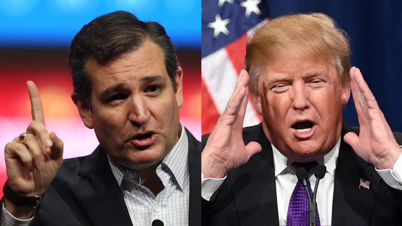 Ted Cruz y Donald Trump