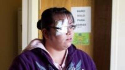 La policía Érika Gándara patrulla un pueblo cercano a Ciudad Juárez. A s...