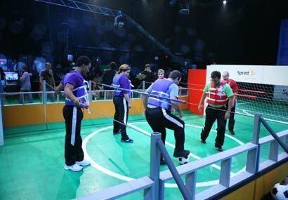 Mientras los participantes ponían el talento en la cancha, la pro...