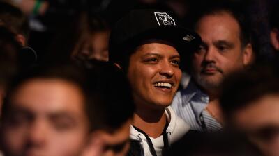 El cantante Bruno Mars.