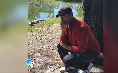 Chayanne se encontró cara a cara con un cocodrilo mientras jugaba golf