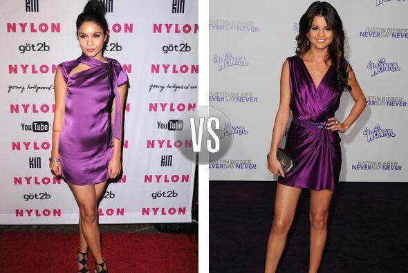 El morado en el atuendo de Selena nos hizo recordar sus inicios en el pr...
