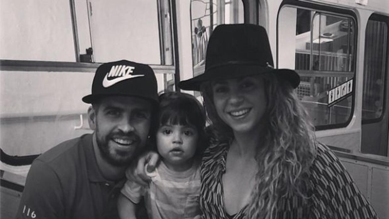Gerard Piqué subió este momento familiar con Shakira y su hijo Milán.
