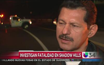 Mortal accidente paralizó Shadow Hills