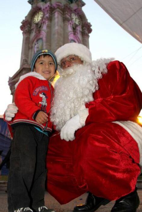 Listo para posar con los niños y escuchar sus peticiones de Navidad.
