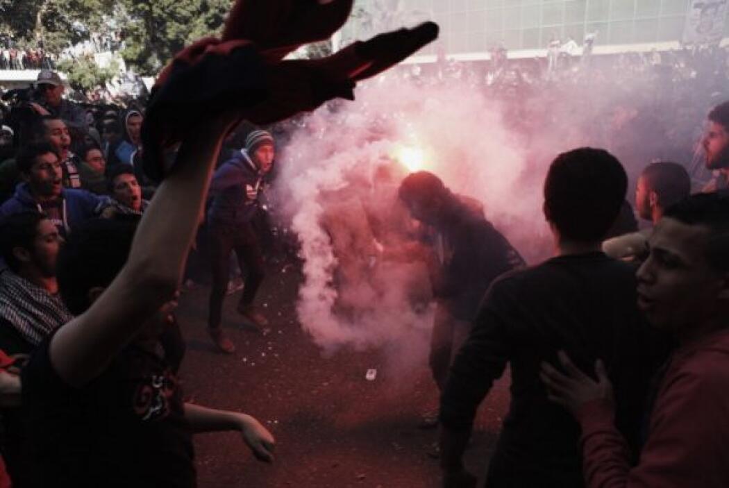 """Los fans incondicionales del club Al-Ahly, conocidos como el """"Ultras"""", q..."""