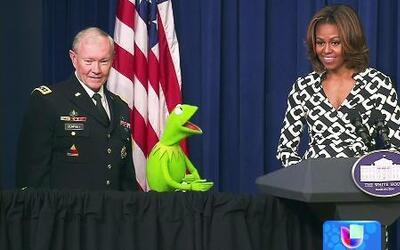 La Rana Kermit visitó la Casa Blanca