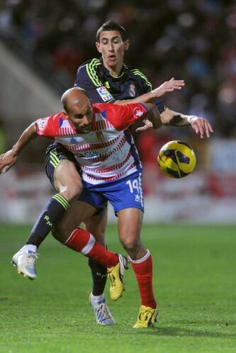 El Granada solo tiró a entre los tres palos una vez en todo el partido,...