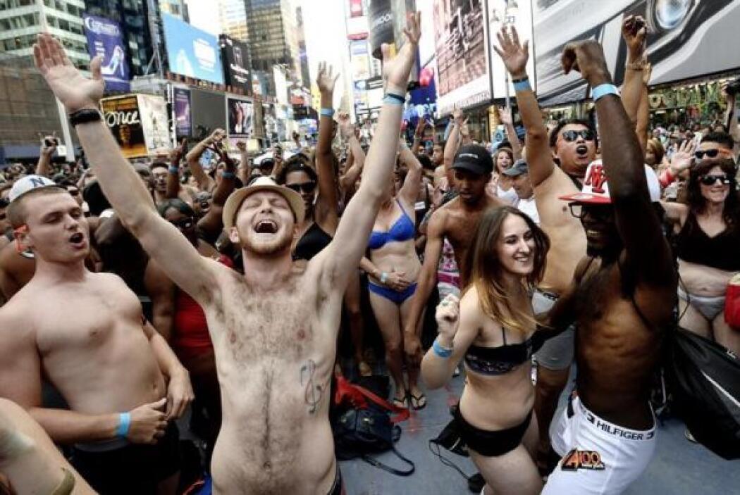 A pesar del entusiasmo los neoyorquinos no lograron batir el récord mund...