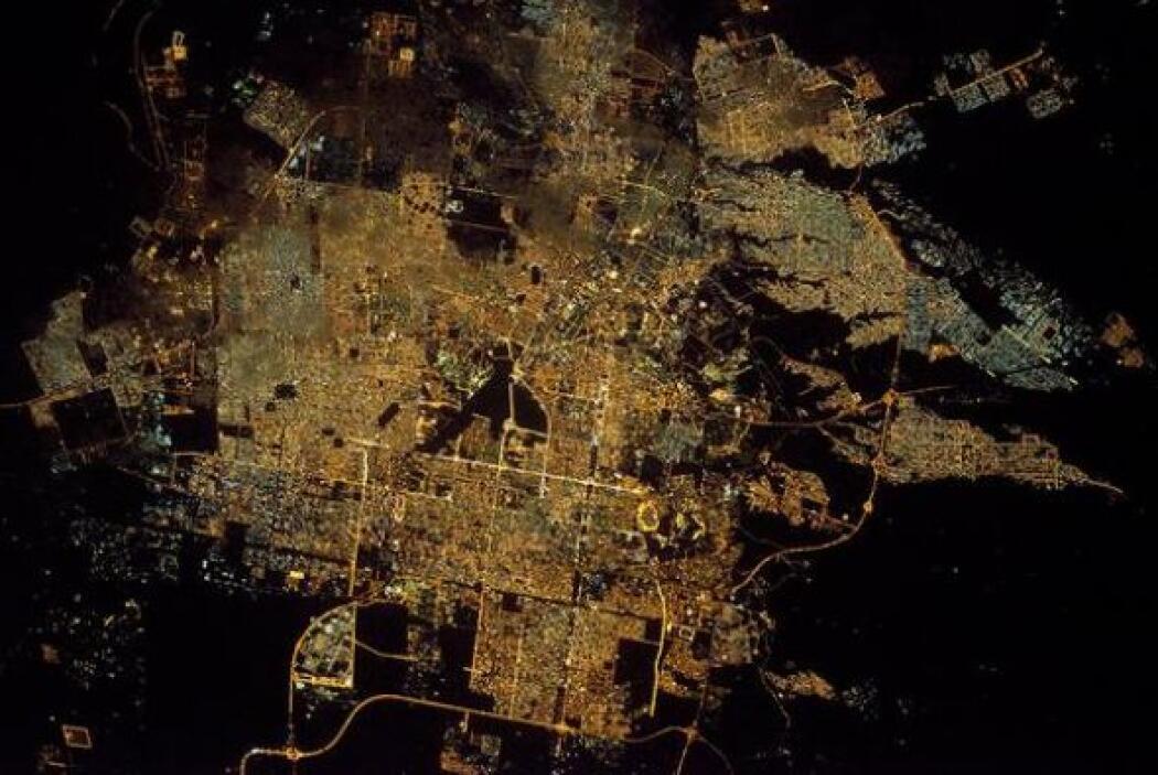 Una foto en alta definición de la ciudad de Riyadh, en Arabia Saudita, v...