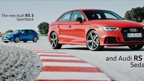 En Video: En acción los lujosos y deportivos Audi RS3 hatchback y sedán