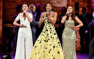 Phillipa Soo, Renéé Elise Goldsberry y Jasmine Cephas Jone...