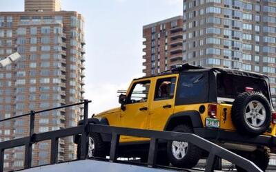Jeep montó una pista de pruebas Off-Road en el Auto Show Nueva York 2011...