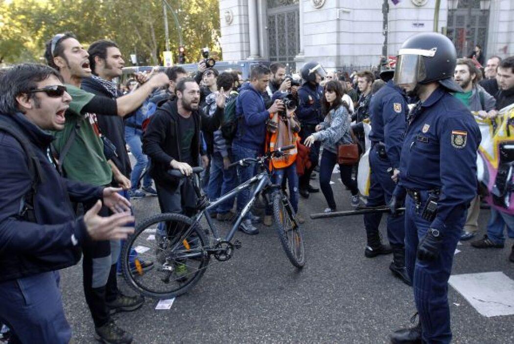 El número de detenidos en las protestas españolas ha ido en aumento, has...