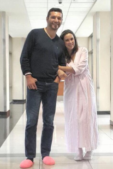 Desde que salió del hospital mostró que los embarazos no le afectan para...
