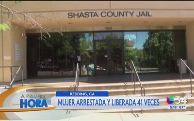 Mujer ha sido arrestada y liberada 41 veces