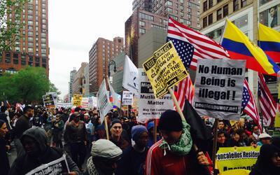 Unos 700 manifestantes participaron en la marcha.