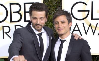 Diegl Luna (I) y Gael García (D) en los Golden Globe 2016.