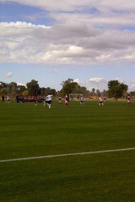 El entrenamiento de la selección de Dinamarca en Casa Grande, AZ.