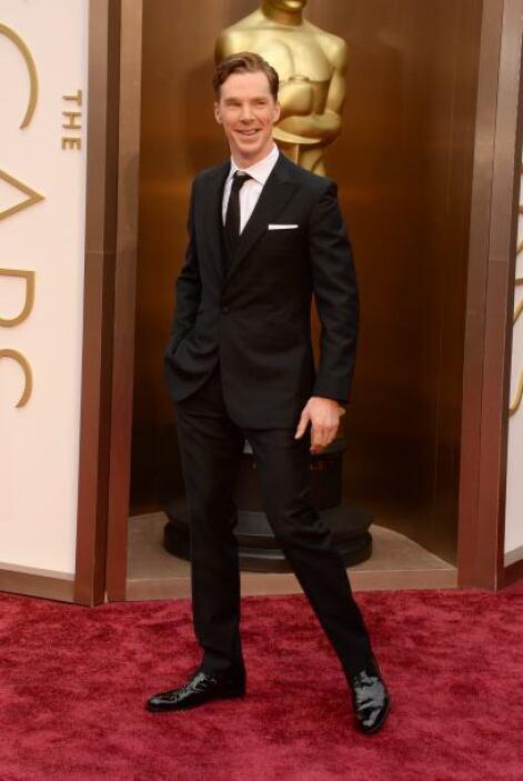 Benedict Cumberbatch fue otro de los galanes que embelleció este evento.