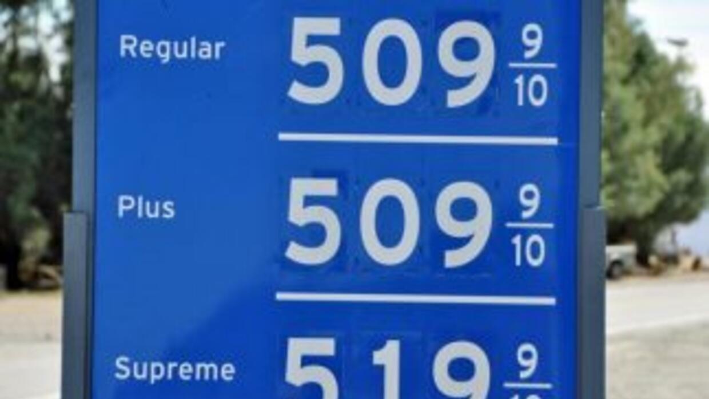 En lo que va del año, el precio promedio del galón de gasolina regular h...