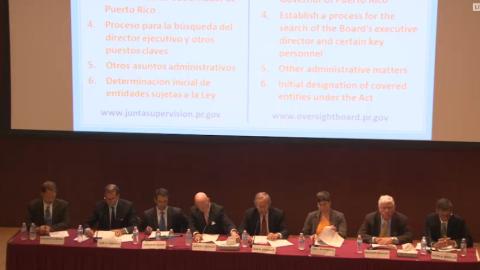 Los siete miembros de la Junta de Supervisión Fiscal para Puerto...