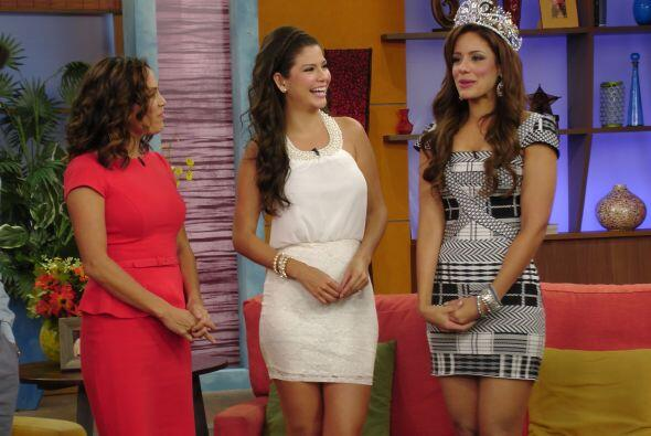 La nueva reina de la belleza latina agradeció antes que nda el apoyo del...