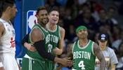 Los Boston Celtics derrotaron al Real Madrid 96-111 en su segundo juego...