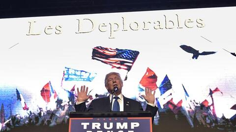 Trump speaking in downtown Miami, Sept 16, 2016