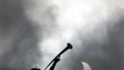 El eclipse parcial de sol
