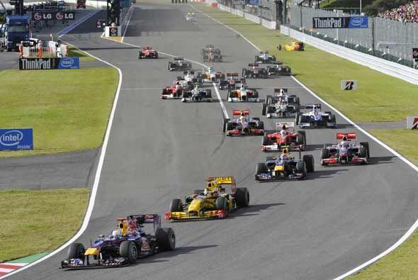 Un total de cuatro autos quedaron fuera de carrera antes de terminar la...