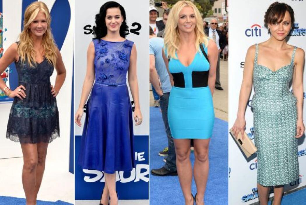 La alfombra azul de 'Los Pitufos' se llenó de pura celebridad, quienes s...