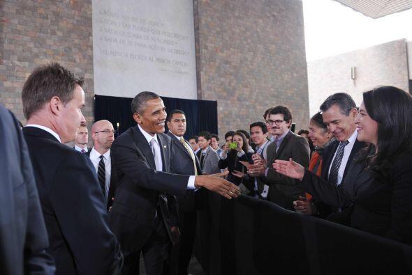 A su llegada, como a su salida del recinto, el presidente de Estados Uni...