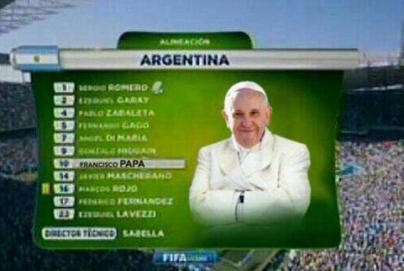 Bueno, el Papa también juega. Todo sobre el Mundial de Brasil 2014.