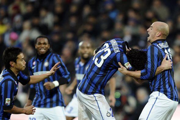 La alegría 'nerazzurri' llegó de la mano de Andrea Ranocchia al marcar e...